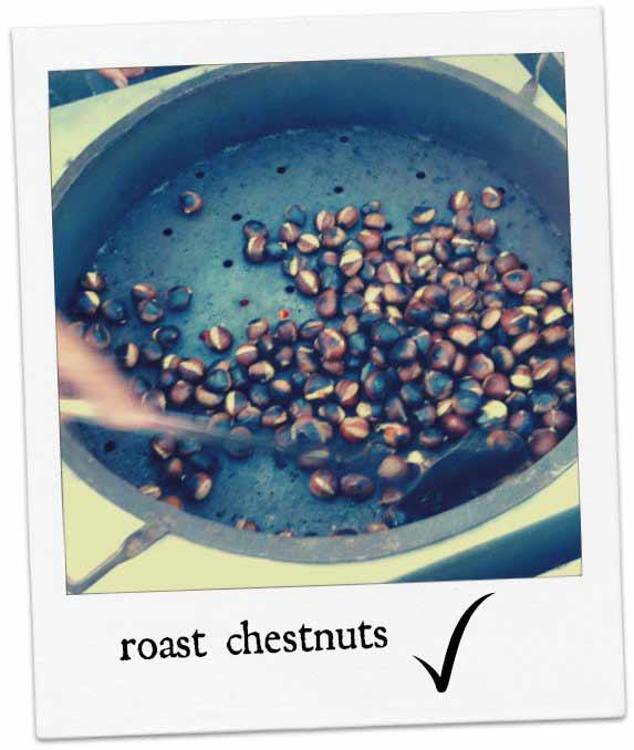 Zagreb street food - Roast chestnuts