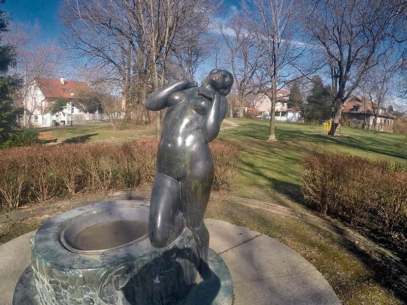 Rokov perivoj - the Elegy statue by Robert Frangeš Mihanović