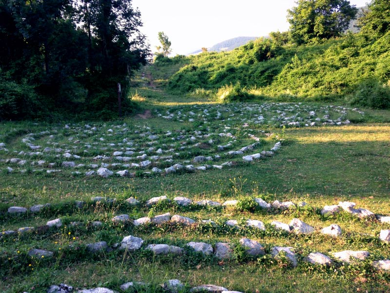 Krmpote Celestial Labyrinths - hiking Croatian coast