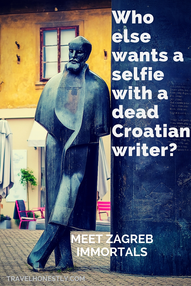 Zagreb loves its writers. Wherever you walk, the imposing statues of Croatian writers draw you in. Find out who they are. Take a selfie. Meet the immortals.