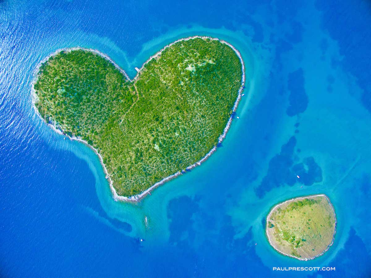 Croatian coast from above by Paul Prescott