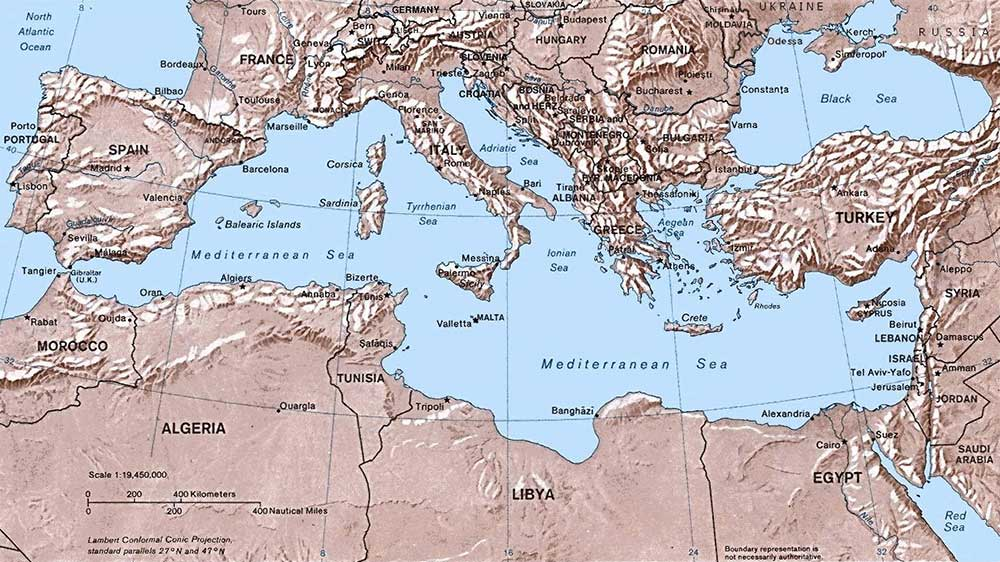 Adriatic Sea Map