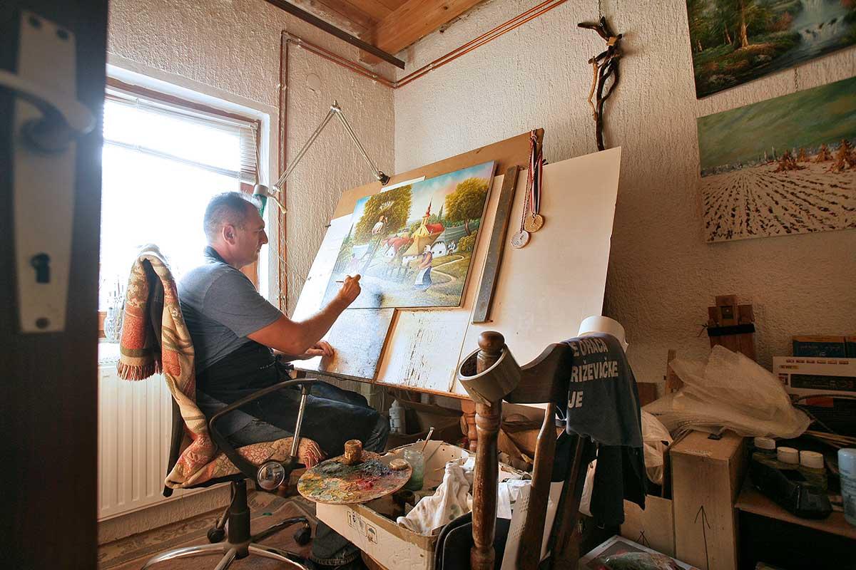 Croatian Naive Art - Stjepan Pongrac Atelier