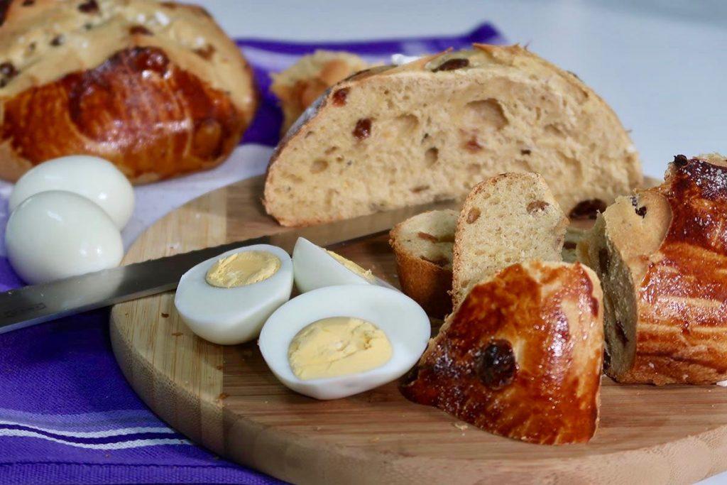Croatian Easter bread pinca sirnica