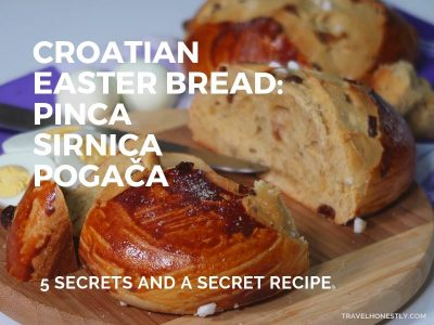 Croatian Easter bread pinca sirnica