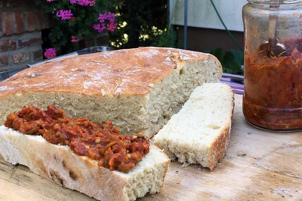 Croatian bread and ajvar