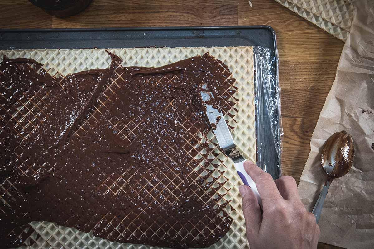 Oblatne chocolate wafer cake