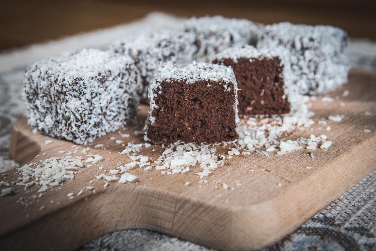 chocolate lamingtons cupavci