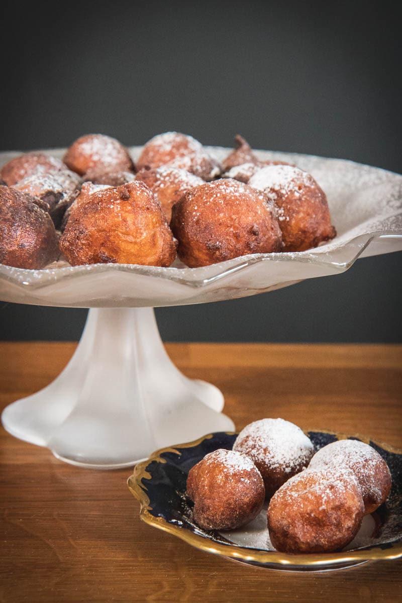 Croatian mini fried doughnuts fritule