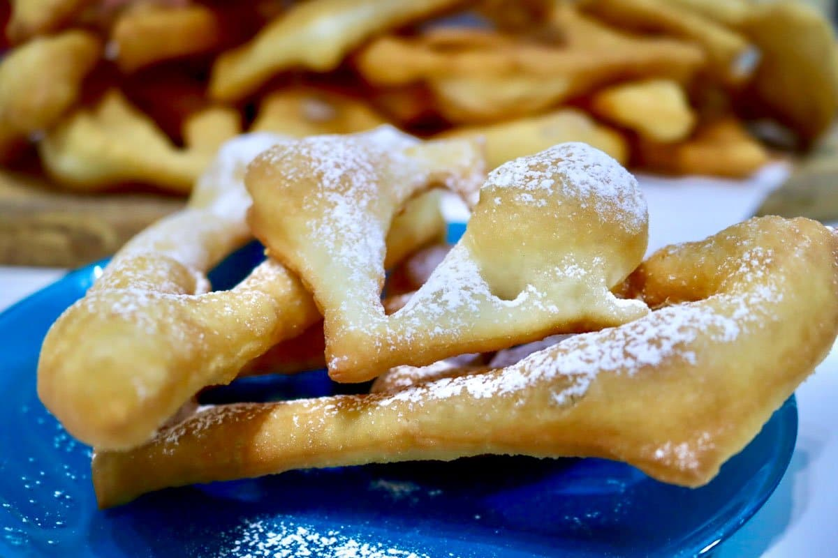 Croatian fried dough langos poderane gace